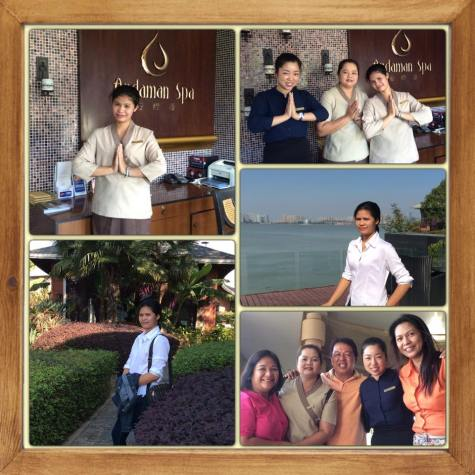 Leah, Veann Spa therapist training with Regalia Resort & Spa Thai Therapists